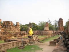 The historical site in Ayutthaya