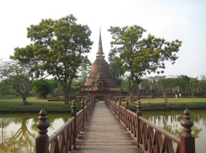 Sukothai's historical site - a temple on an island.