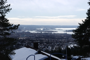Oslo's ski jumping mountain offers an amazing view over the whole city.