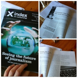 The Index of Censorship Magazine is published fourth times a year.
